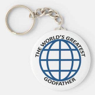 World's Greatest Godfather Basic Round Button Key Ring