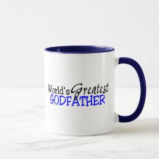 Worlds Greatest Godfather Blue Black Mug