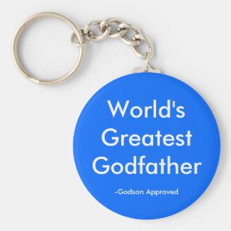 World's Greatest Godfather, -Godson Approved Basic Round Button Key Ring
