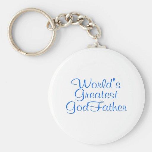 Worlds Greatest GodFather Key Chains