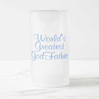 Worlds Greatest GodFather Frosted Glass Mug