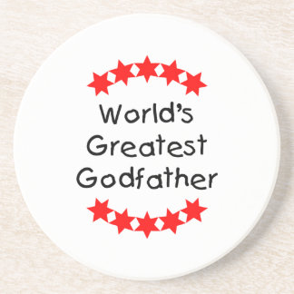 World's Greatest Godfather (red stars) Drink Coaster