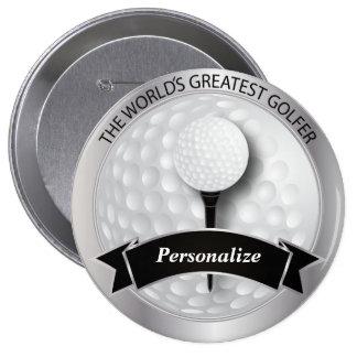 World's Greatest Golfer | DIY Name 10 Cm Round Badge