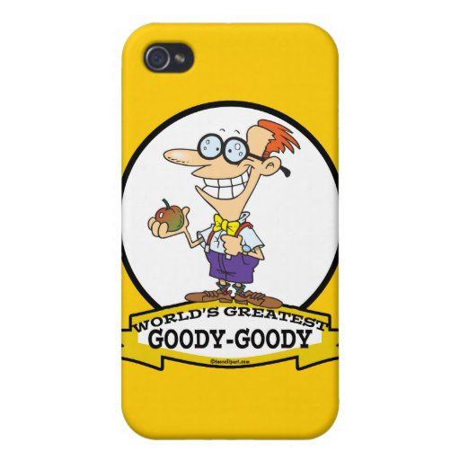 WORLDS GREATEST GOODY GOODY CARTOON CASES FOR iPhone 4