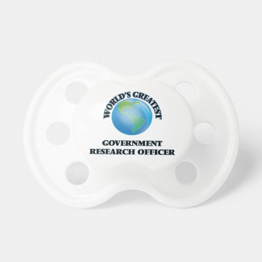 World's Greatest Government Research Officer Pacifiers