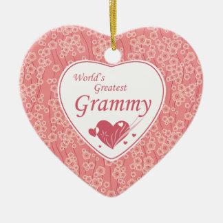 World's greatest grammy cherry blossoms ornament