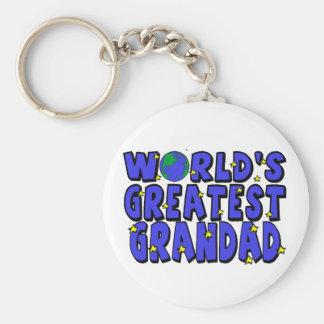 World's Greatest    Grandad Basic Round Button Key Ring