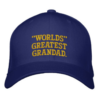 Worlds Greatest Grandad Embroidered Baseball Caps