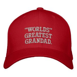 Worlds Greatest Grandad Embroidered Hat