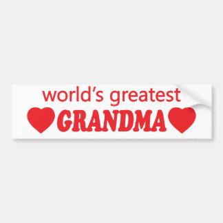 WORLDS GREATEST GRANDMA. CUSTOMIZABLE BACKGROUND BUMPER STICKER