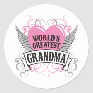 World's Greatest Grandma Round Sticker