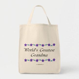 World's Greatest Grandma Canvas Bags