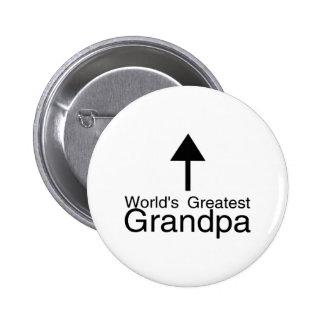Worlds Greatest Grandpa Arrow 6 Cm Round Badge