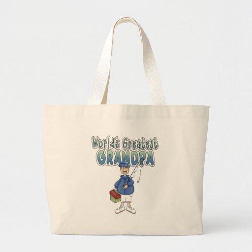 World's Greatest Grandpa Canvas Bag