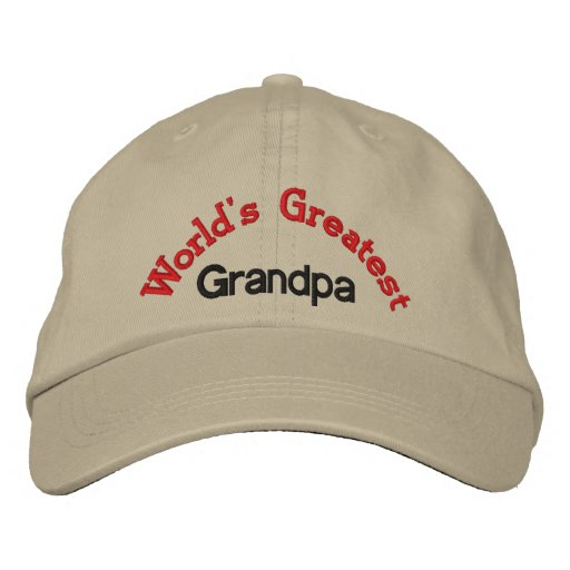 World's Greatest  Grandpa Embroidered Hats