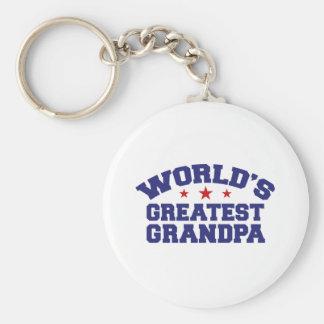 World's Greatest Grandpa Keychains