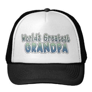 World's Greatest Grandpa Words Cap