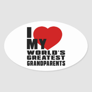 WORLD'S GREATEST GRANDPARENTS OVAL STICKER