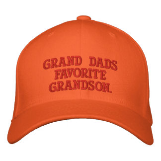 Worlds Greatest Grandson Embroidered Cap