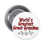 World's Greatest Great Grandma Pinback Button