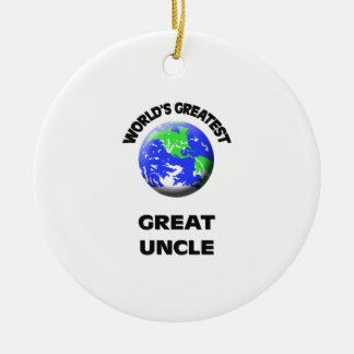 World's Greatest Great Uncle Round Ceramic Decoration