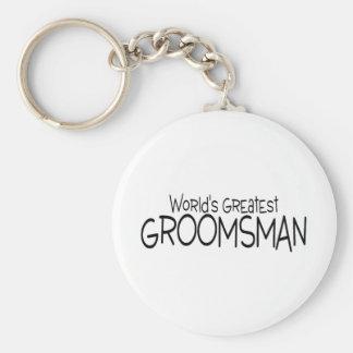 Worlds Greatest Groomsman Basic Round Button Key Ring