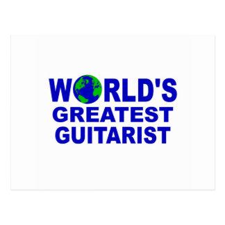 World's greatest Guitarist Postcard