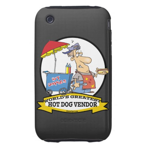 WORLDS GREATEST HOT DOG VENDOR MEN CARTOON iPhone 3 TOUGH COVER