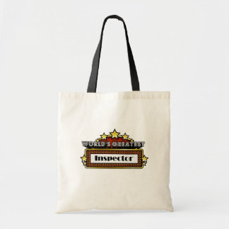 World's Greatest Inspector Canvas Bags