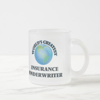 World's Greatest Insurance Underwriter Frosted Glass Coffee Mug