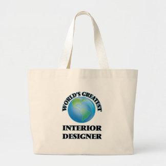 World's Greatest Interior Designer Canvas Bags
