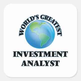 World's Greatest Investment Analyst Square Sticker