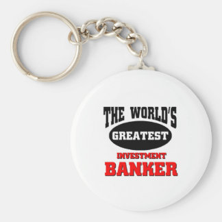 World's greatest investment banker basic round button key ring