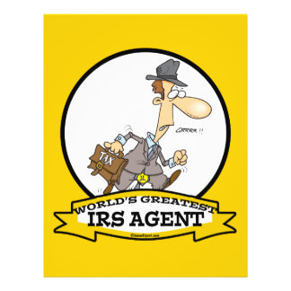 WORLDS GREATEST IRS AGENT CARTOON 21.5 CM X 28 CM FLYER