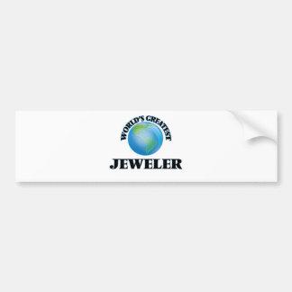 World's Greatest Jeweler Bumper Stickers