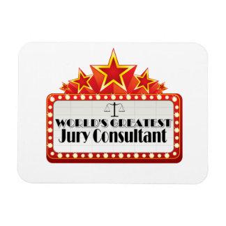 World's Greatest Jury Consultant Rectangular Photo Magnet
