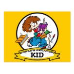 WORLDS GREATEST KID CARTOON POST CARDS