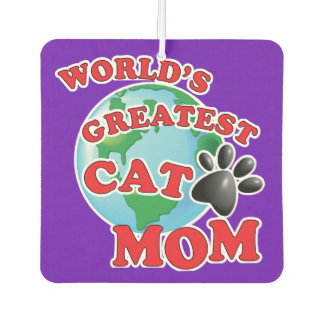 Worlds Greatest Kitty Momma Car Air Freshener