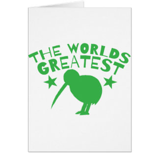 World's GREATEST KIWI (New Zealand funny) Card