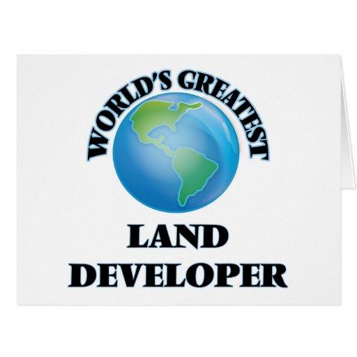 World's Greatest Land Developer Greeting Card