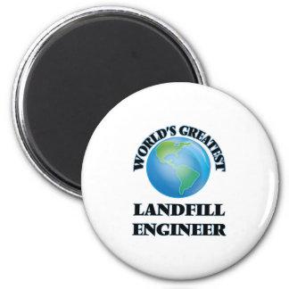 World's Greatest Landfill Engineer Refrigerator Magnets
