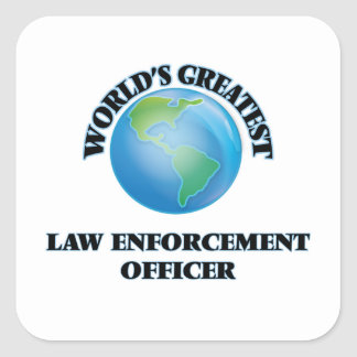 World's Greatest Law Enforcement Officer Stickers