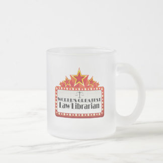 World's Greatest Law Librarian Frosted Glass Mug
