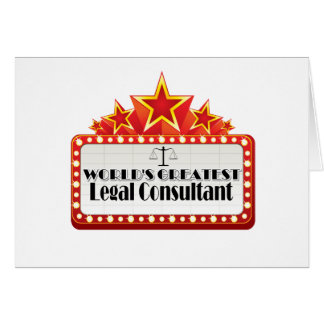 World's Greatest Legal Consultant Card