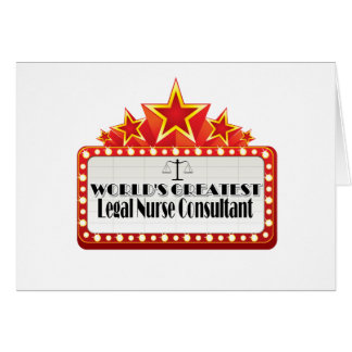 World's Greatest Legal Nurse Consultant Greeting Card
