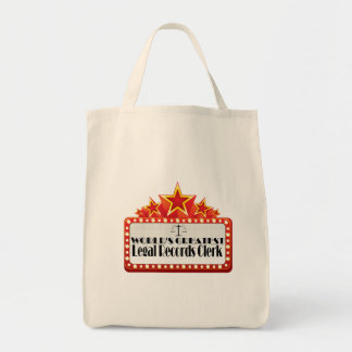 World's Greatest Legal Records Clerk Grocery Tote Bag