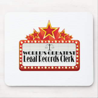 World's Greatest Legal Records Clerk Mouse Pad