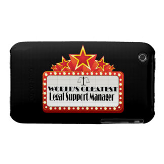 World's Greatest Legal Support Manager iPhone 3 Case