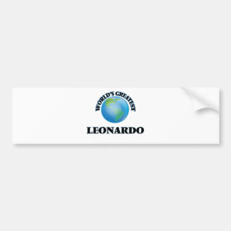 World's Greatest Leonardo Bumper Sticker
