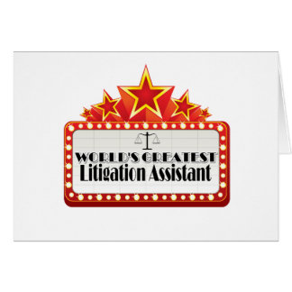 World's Greatest Litigation Assistant Greeting Card